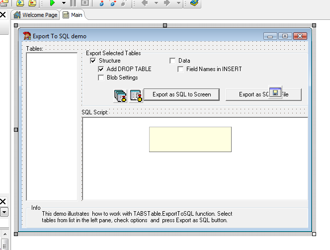 Export To Sql Delphi Example